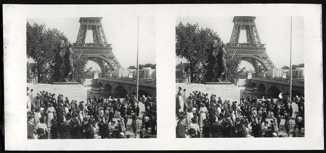 Archiv U733 Besucherandrang, Paris, Frankreich, 1937