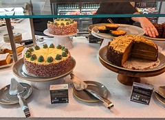 Cakes in M&S cafe