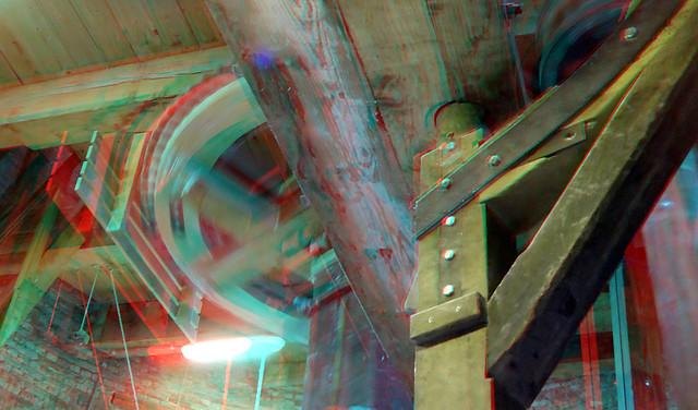 Molen De Roos Delft in werking 3D