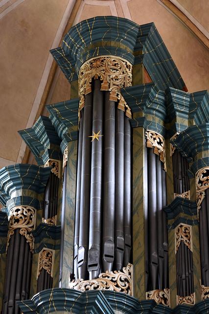 Marienfeld, Westfalen, Abtei Marienfeld, organ case, detail