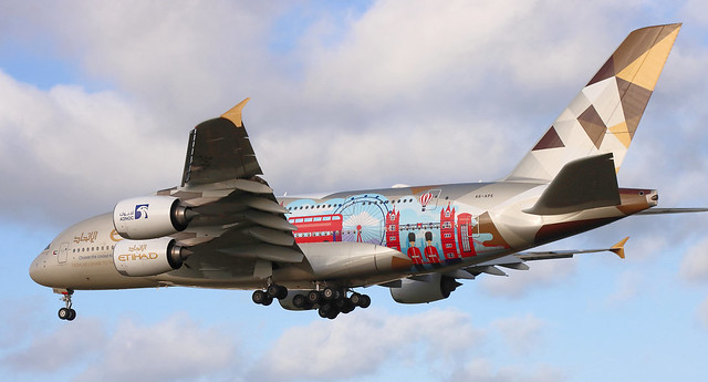 A6-APE ETIHAD A380