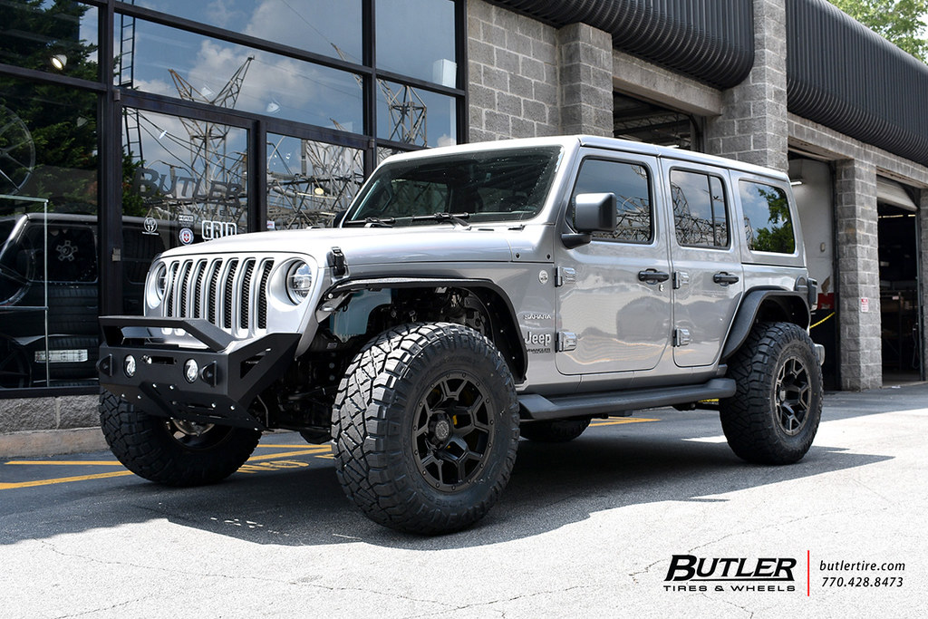 Jeep Wrangler With 18in Black Rhino Overland Wheels And Ni Flickr