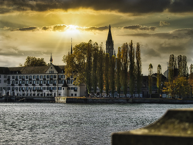 Lake Constance old town city view
