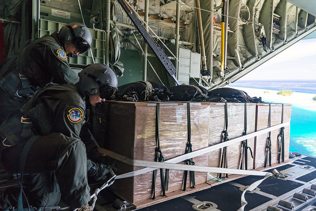 U.S. Airmen participate in Operation Christmas Drop 2019 at Andersen Air Force Base, Guam