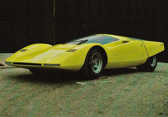 Postcard Ferrari 512S Pininfarina Musée de Mougins 1969a
