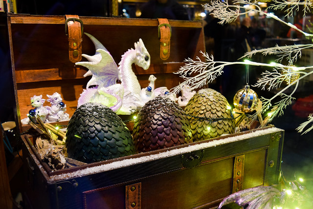 Dragons Eggs House of Secrets Canterbury Christmas Window 2019