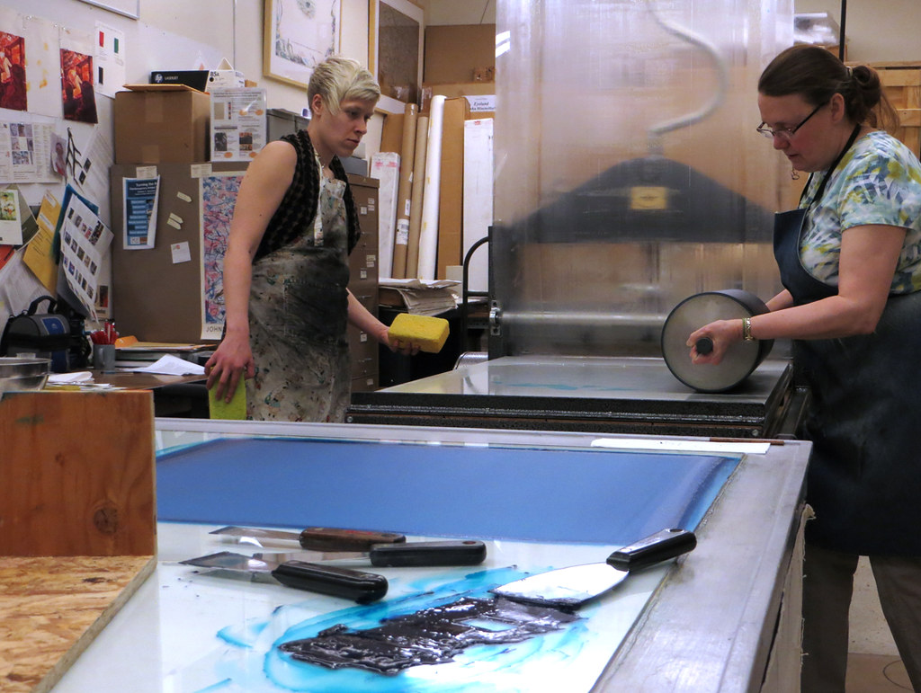 printing the blue ink