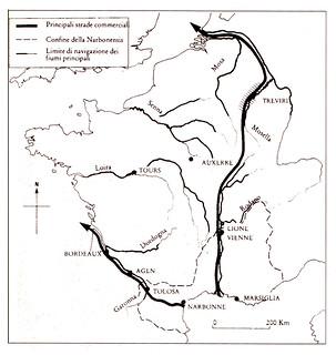 Diffusione della viticoltura in Gallia