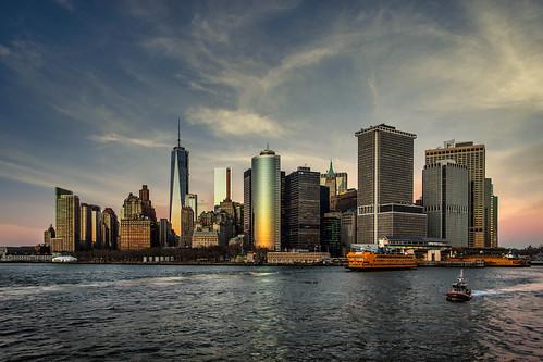 Sunset over downtown ManhattanSunset over downtown Manhattan