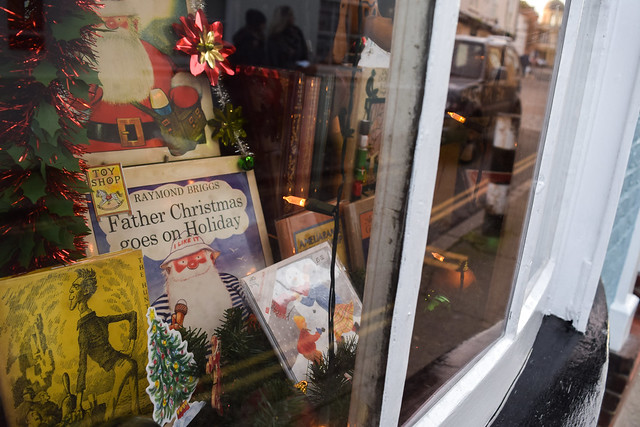 The Chaucer Bookshop Canterbury Christmas Window 2019
