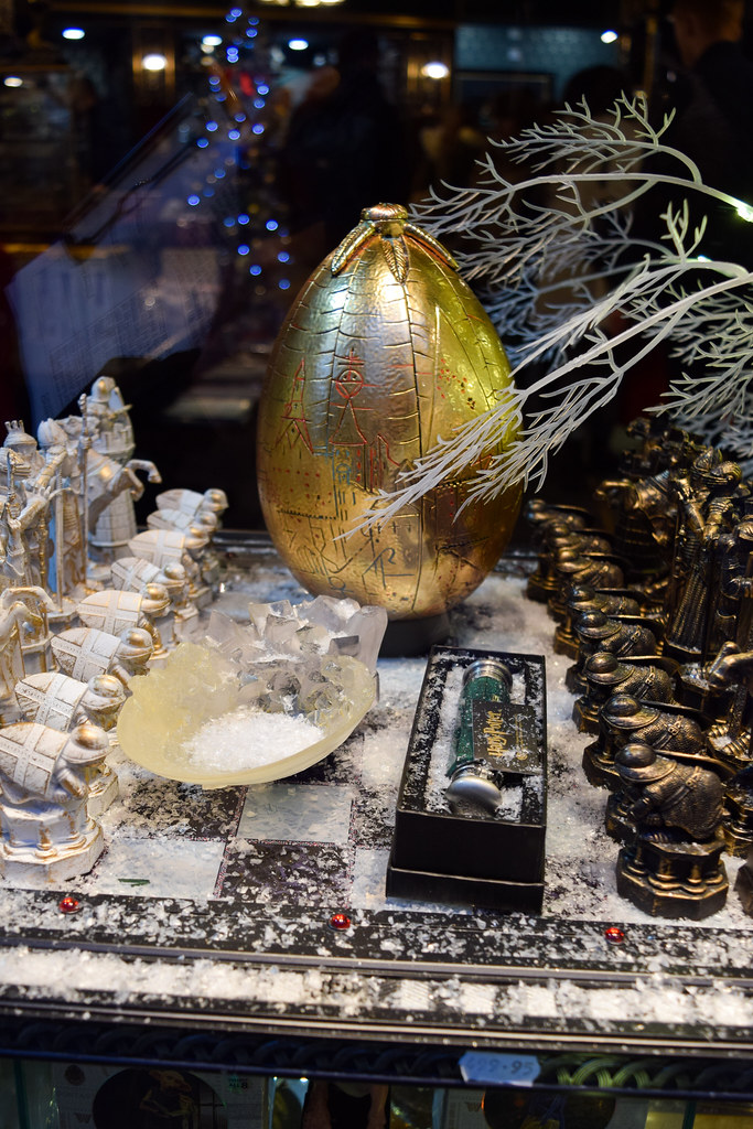 Goblet of Fire Egg Canterbury Christmas Window 2019