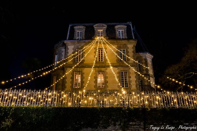 Rochefort en Terre pendant les illuminations de noël
