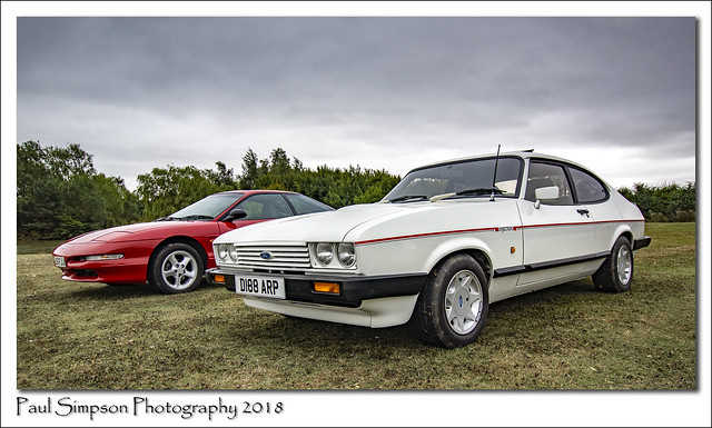Ford Capri and a Ford Probe