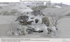 ".:Tm:.Creation ""The rock of Wolves"" Winter Nature Scene wa26"
