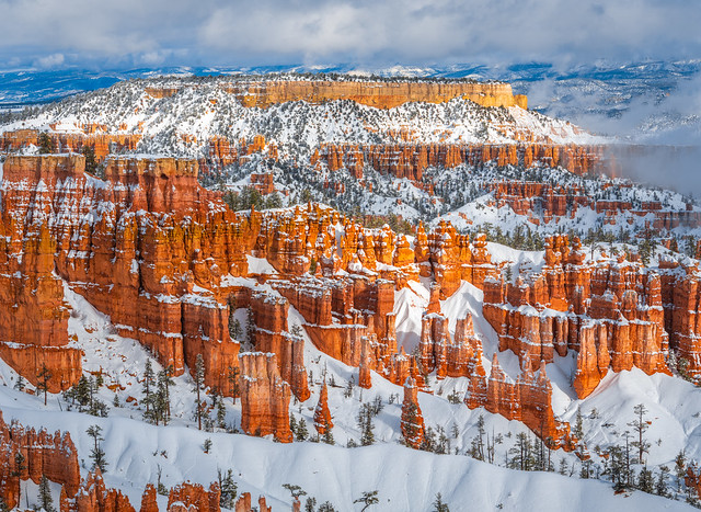 Snowy Hoodoos Clearing Winter Storm! Bryce Canyon National Park Winter Snow Fuji GFX100 Fine Art Landscape Nature Photography! Bryce Canyon NP Utah Winter Scenery! Elliot McGucken dx4/dt=ic Master Fine Art Medium Format!  Fujifilm Fujinon GF Lm Wr Lens