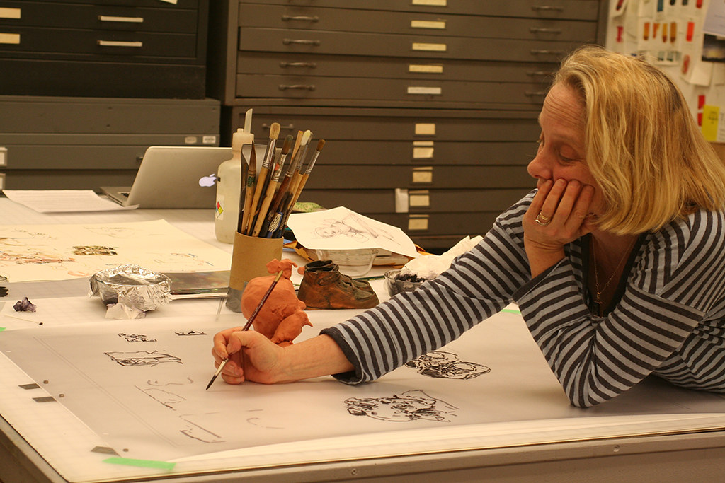 Judy Glantzman drawing on mylar film