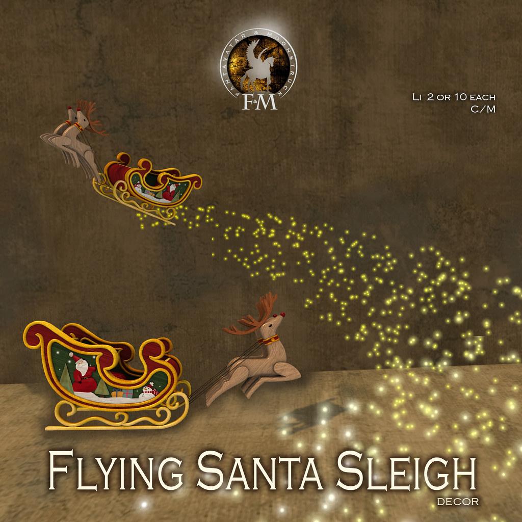 F&M Flying Santa Sleigh