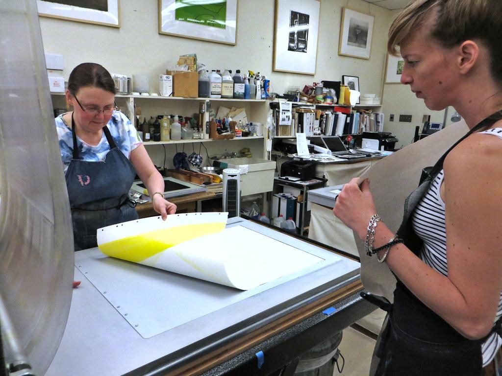 revealing the print