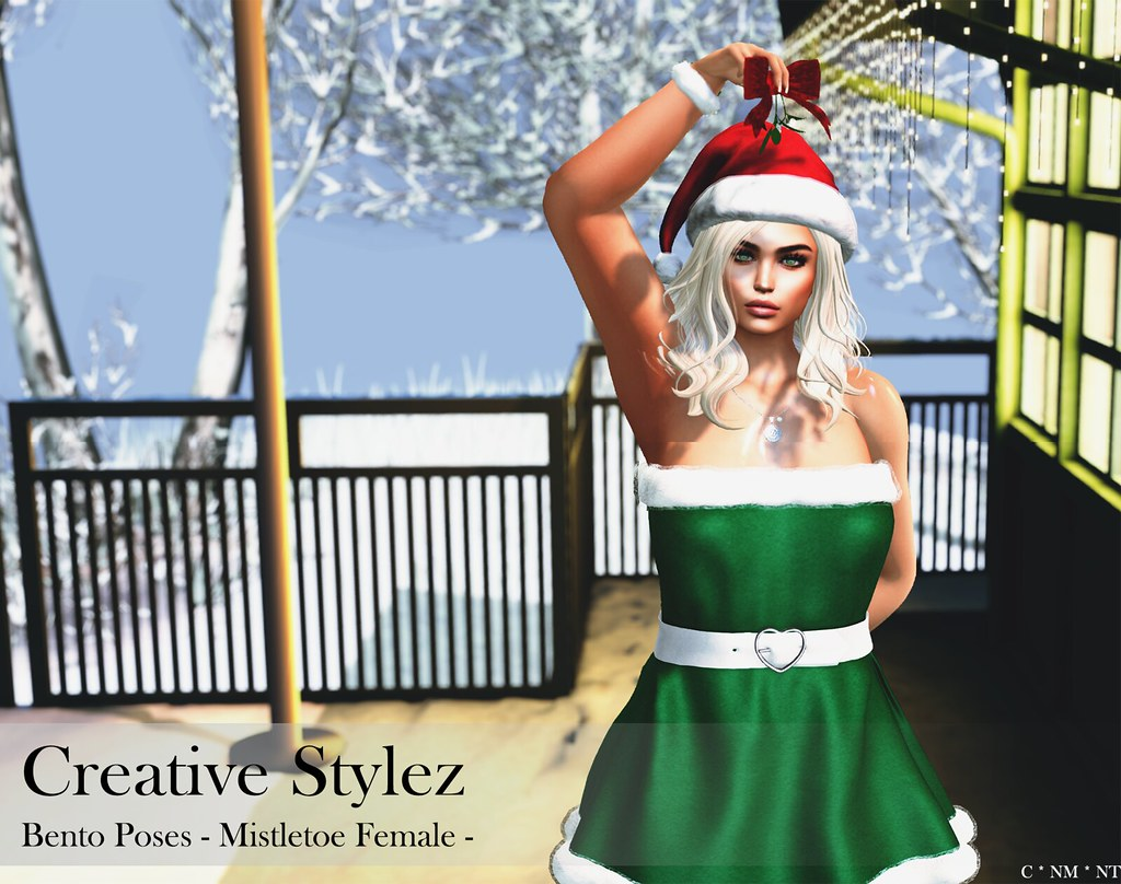 Creative Stylez – Bento Poses – Mistletoe Female –