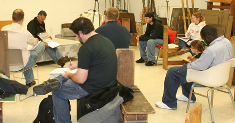 Duarte with drawing class