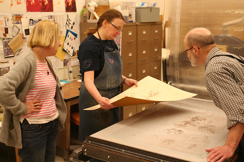 inspecting a print