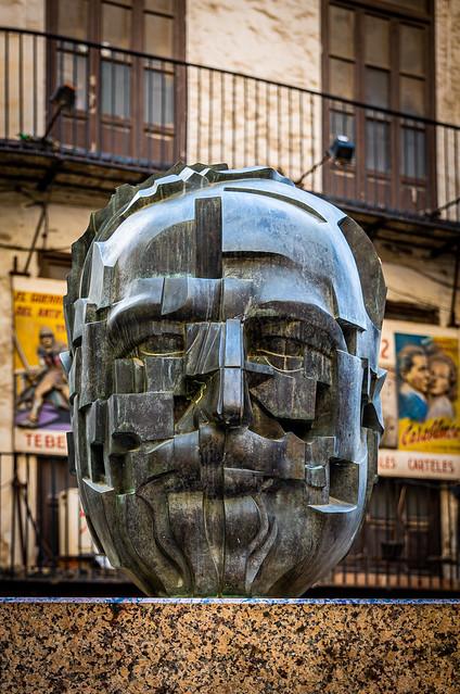 Head Sculpture (Vincente Blasco Ibanez) Valencia (Panasonic Lumix S1 & Lumix 24-105mm f4) (1 of 1)