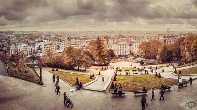 Paris view from Le Sacre Coeur