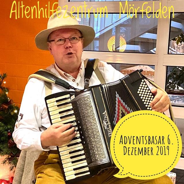 Weihnachtlicher Musik im Altenhilfezentrum Mörfelden mit Basar. Im Dezember 2019