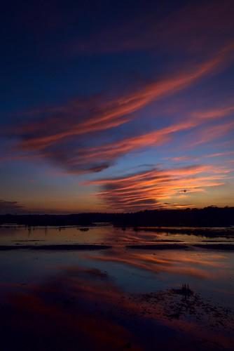 sunset barnegat reflections sky clouds wetlands odc