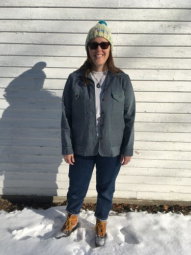 Simplicity 4109 Jacket in Railroad Denim | by patternandbranch