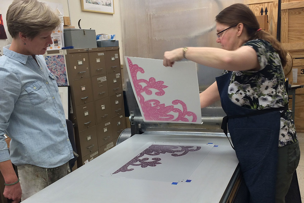 proof printed in pink