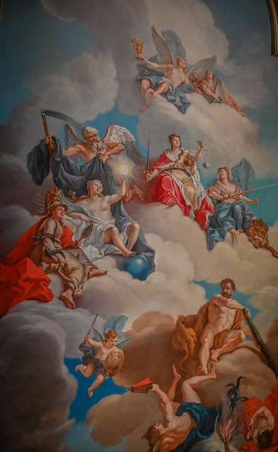 Ceiling Painting in the State Apartments in Dresdner Residenzschloss - Dresden Germany