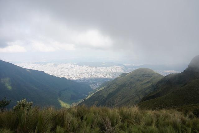 Rucu Pichincha Volcano Summit at 4,100 meters (13,451 ft) above sea level, Quito, Ecuador.