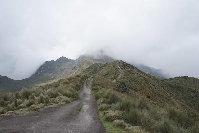 Al Sendero Ruco Pichincha Volcano at 4,200 meters (13,779 ft), Quito, Ecuador.