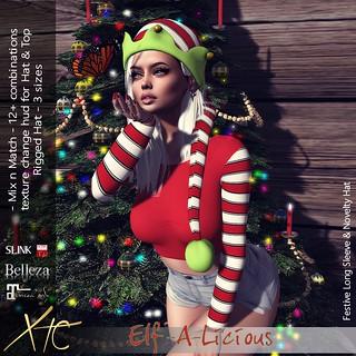 .Elf-A-Licious. Xmas outfit