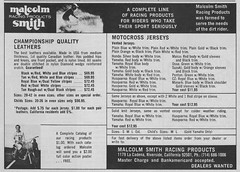1973 Malcolm Smith Products Ad