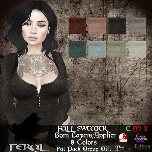 .:Feral - Fall Sweater (Group Gift)