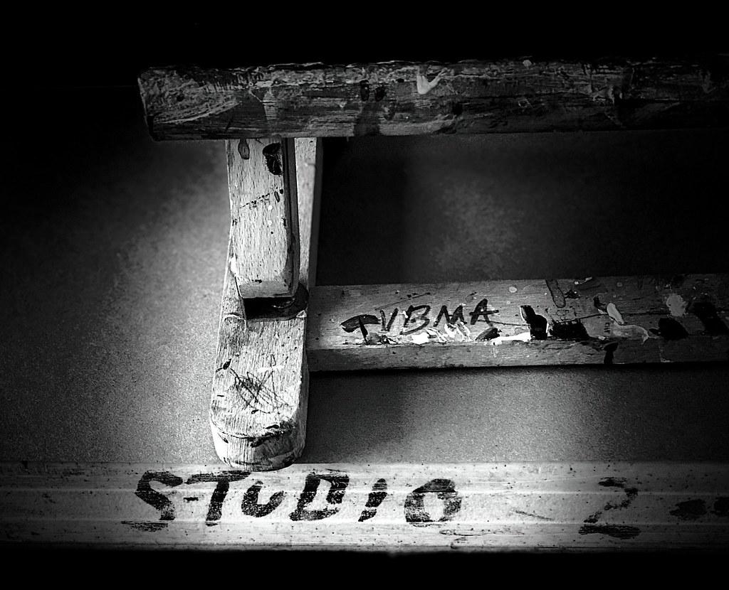 At the studio...