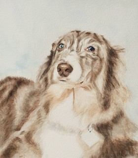 Watercolor portrait of River by Adine Rotman, on Flickr