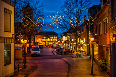 Christmas time in a small German town