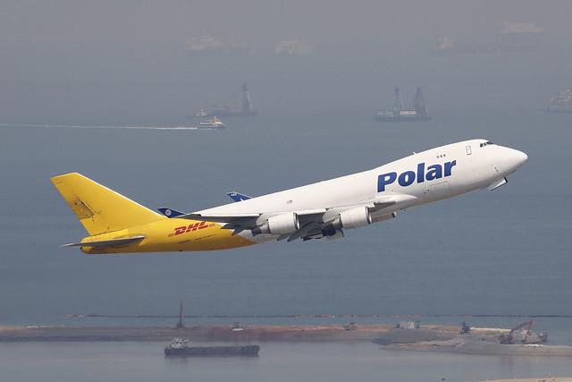 N452PA, Boeing 747-400F, Polar Air Cargo, Hong Kong
