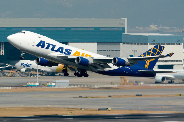 HKG - Atlas Air B747-400F N492MC