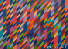 """Bridget Riley  painting  """" November""""  from  1990 ( Plus 2 in comments )"""