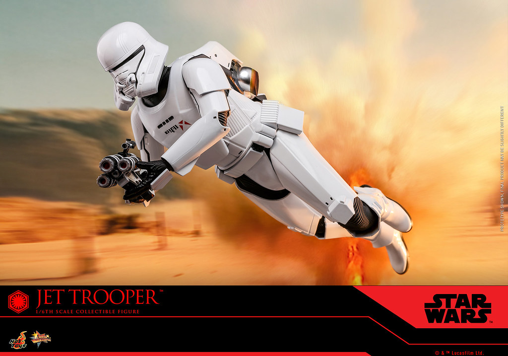 全新兵種突入空中戰場! Hot Toys – MMS561 -《STAR WARS:天行者的崛起》噴射風暴兵 Jet Trooper 1/6 比例人偶