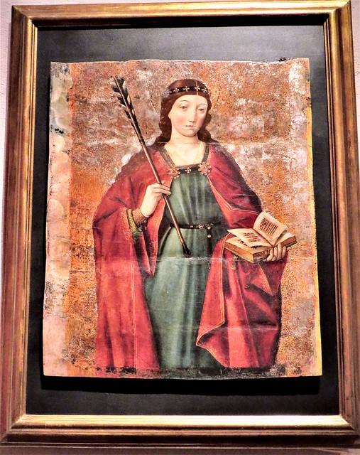 Santa Úrsula, siglo XV, atribuida a Pedro de Berruguete, del Museo de la Colegiata de San Cosme y San Damián de Covarrubias. Burgos