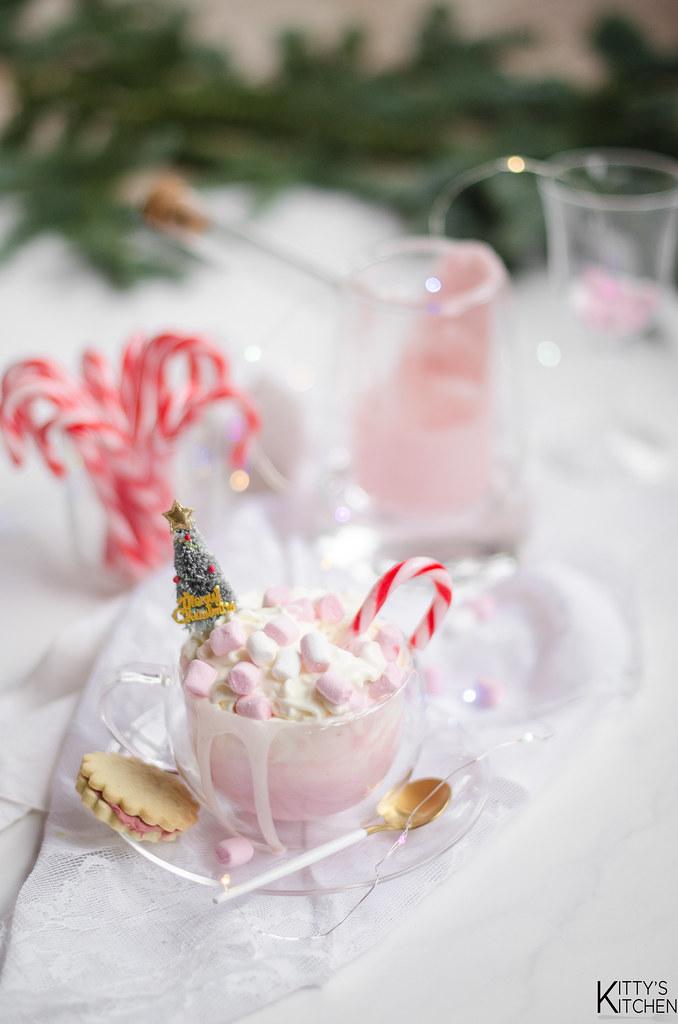 cioccolata calda rosa