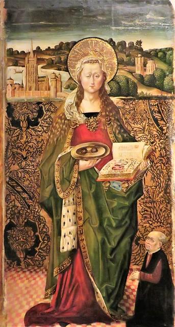 Santa Cecilia del Museo de la Colegiata de San Cosme y San Damián de Covarrubias. Burgos.