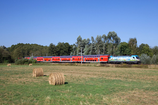 DB 182 002 (RE1) + RE 18179 Brandenburg - Frankfurt (Oder)  - Kemnitz