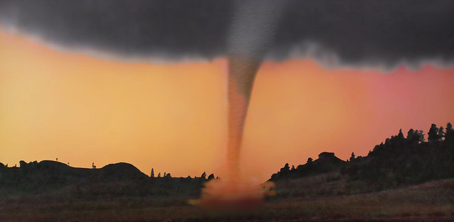 Warning !!! A tornado is coming at high speed!