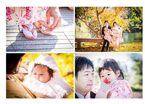 七五三とお宮参りを一緒に 姉妹 晩秋の紅葉シーズン